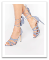 Chaussures bleu à brides