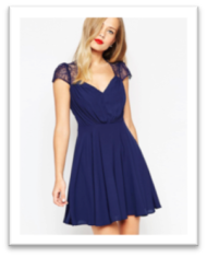 robe manche courte bleue nuit style kate