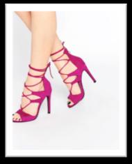 sandales à talons roses