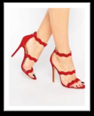 sandales à talons rouge